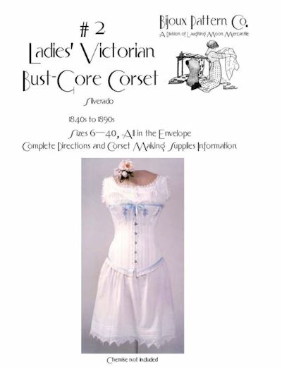 1840s to 1890s Ladies' Victorian Corset Pattern by Laughing Moon Mercantile