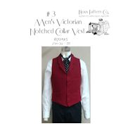 1870-1915 Men's Victorian Notched Collar Vest Pattern by Laughing Moon Mercantile