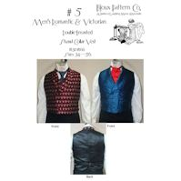 1830-1860 Men's Victorian Double-Vested Shawl Collar Vest Pattern by Laughing Moon Mercantile