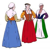 The Elizabethan Working Woman's Wardrobe Pattern by Margo Anderson