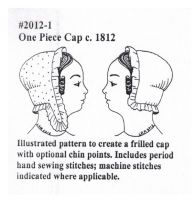1812 One Piece Cap Sewing Pattern by Miller's Millinery