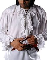 Captain Charles Vane Renaissance Pirate Shirt - White