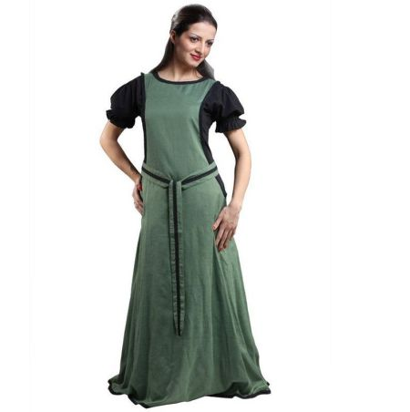 Maiden Green Sideless Surcoat Gown
