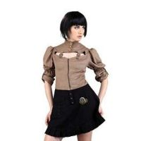 Steampunk Short Skirt - Black