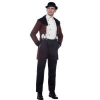 Chocolate Brown Baker Street Steampunk Victorian/Regency Tailcoat