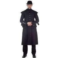 Steampunk Black Cavalier's Gentleman Coat