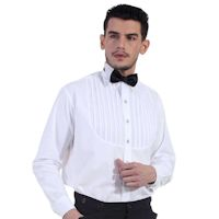 Classic Victorian or Steampunk White Men's Shirt