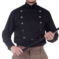 Black Steampunk Airship, Victorian or Western Shirt