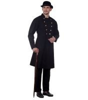 Steampunk Victorian Era Gentleman's Coat in Black