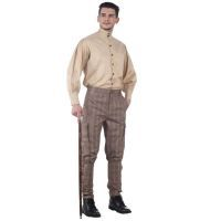 Jodhpur Style Steampunk Airship Pants in Brown Plaid