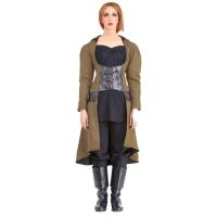 Steampunk Under-bust Vampire Trench Coat