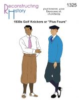"1930s Men's ""Plus Fours"" Golf Knickers Pattern by Reconstructing History"