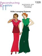 1930s Lounging Pyjamas Pattern By Reconstructing History