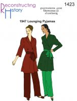 1947 Lounging Pyjamas Pattern By Reconstructing History