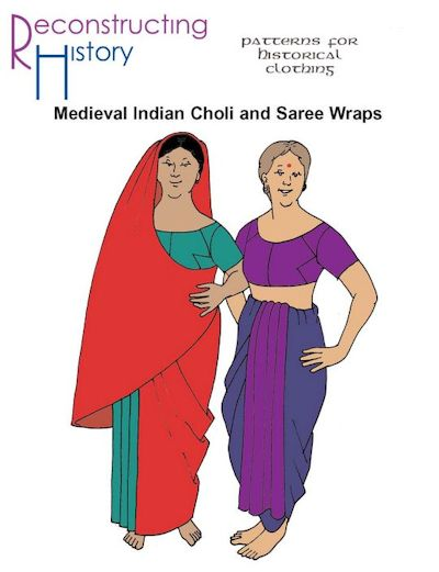 Medieval Indian Choli and Saree Wraps Pattern by Reconstructing History
