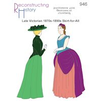 1870s - 1890s Late Victorian Skirt-for-All Pattern by Reconstructing History