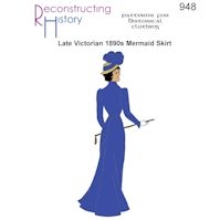 1880s to 1900s Late Victorian and Edwardian Mermaid Skirt Pattern by Reconstructing History