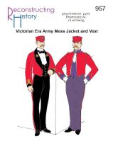 1850s to 1910s Victorian Army Mess Jacket and Vest Pattern by Reconstructing History