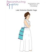 1800s Ladies' Victorian Era Bustle Cage Pattern by Reconstructing History