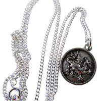 Handcrafted Pewter Welsh Dragon Heraldry Pendant