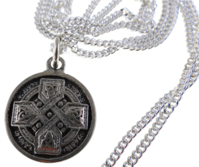 Handcrafted Pewter Fine Celtic Cross Necklace - Equal Sided Cross in Solid Pewter