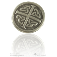 "Gaelic Celtic Pewter 3/4"" Button - Card of 4"