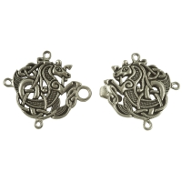 Handcrafted Pewter - Celtic Seahorse Cloak or Cape Clasp