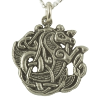 Handcrafted Pewter - Celtic Seahorse Pewter Necklace