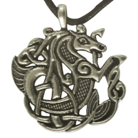 Handcrafted Pewter - Large Celtic Seahorse Pewter Pendant Necklace
