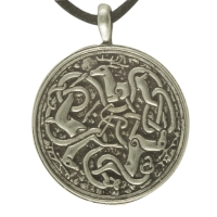 Handcrafted Pewter - Large Celtic Hart (Stag or Deer) Pewter Pendant Necklace