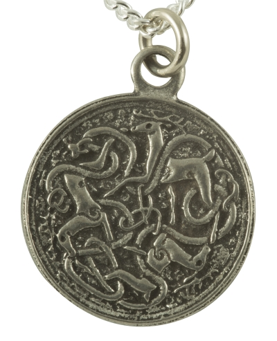 Handcrafted Pewter - Celtic Hart (Stag or Deer) Pewter Necklace