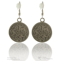 Handcrafted Pewter - Celtic Hart (Stag or Deer) Pewter Pierced Earrings