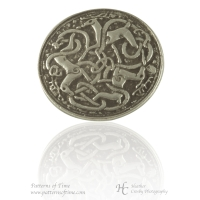 Handcrafted Pewter - Celtic Hart (Deer or Stag) Pewter Buttons - Card of 4 Buttons