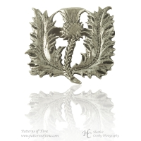 Handcrafted Pewter Spiny Thistle Pewter Pin