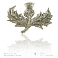 Handcrafted Pewter Graceful Scottish Thistle Pewter Pin