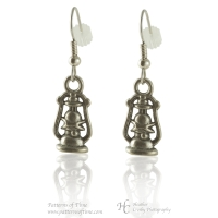 Handcrafted Pewter - Lantern Pewter Pierced Earrings