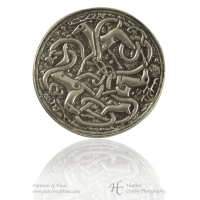 Handcrafted Pewter - Celtic Hart (Deer or Stag) Pewter Brooch