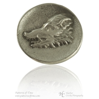"Hand Cast Pewter Button - 1"" Raging Wild Boar Head Pewter Buttons (Card of 4)"