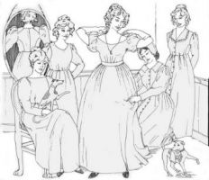 1820s to 1840s Romantic Era Dresses Pattern