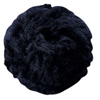 "Jumbo 4"" Plush Bunny Tail Black"