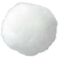 "Jumbo 4"" Plush Bunny Tail White"