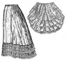1879 Petticoat with Detachable Train Pattern