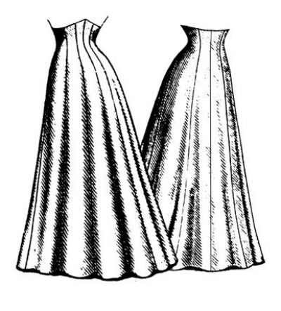 1906 Ten Gore Princess Skirt Pattern