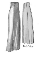 1911 Narrow Panel Skirt Pattern