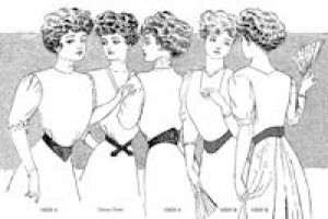 1901-1909 Edwardian Dip-Waist Belts Pattern