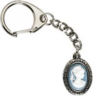 Small Cameo Key-Ring Pewter