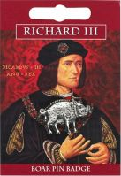 Richard III Boar Pin Badge in Fine English Pewter